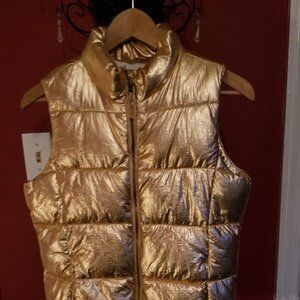 GIRLS' PUFFY VEST IN ROSE GOLD